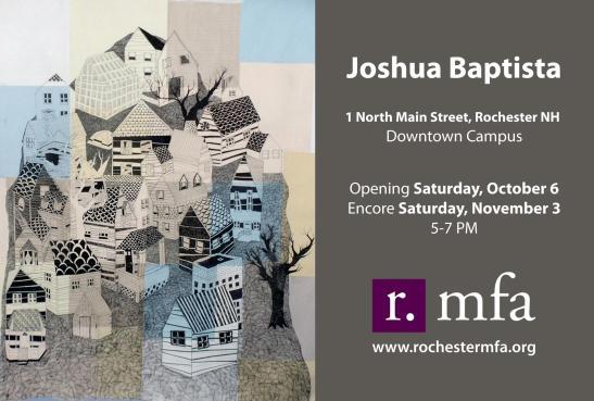 Joshua Baptista Exhibit Flyer