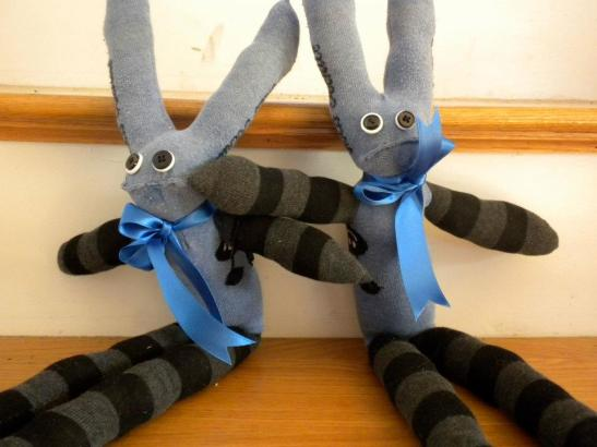 Sock critter twins, 2012.