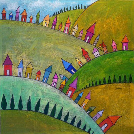 Tiny Hillside Town